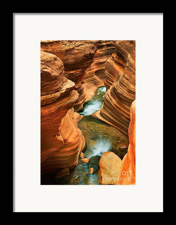 America Framed Print featuring the photograph Deer Creek Slot by Inge Johnsson