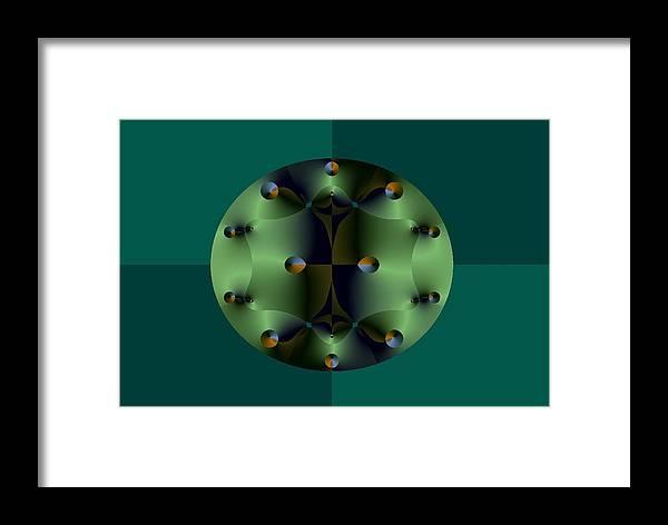 Fractal Framed Print featuring the digital art Defender by Atanas Atanassov