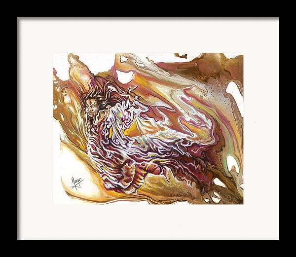 Defiance Framed Print featuring the painting Defiance by Karina Llergo