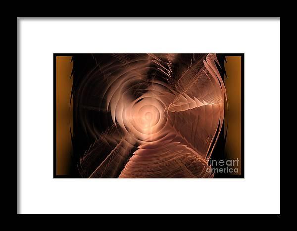 Deja Vu Framed Print featuring the digital art Deja Vu / Rabbit Hole by Elizabeth McTaggart