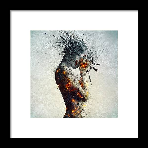 Deliberation Framed Print featuring the digital art Deliberation by Mario Sanchez Nevado
