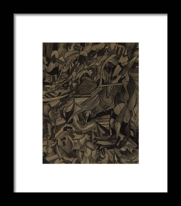 Drawing Framed Print featuring the drawing Deliberation by Peter Shor