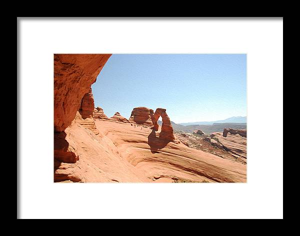 Delicate Arch Framed Print featuring the photograph Delicate Arch 1 by Tracy Winter
