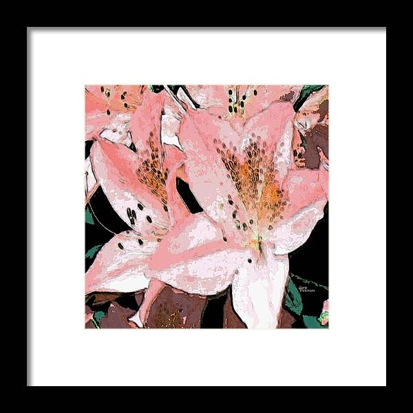 Abstract Framed Print featuring the painting Delicate II by Herb Dickinson