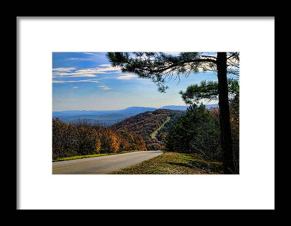 Tree Framed Print featuring the photograph Delightful Talimena Drive by Carolyn Fletcher