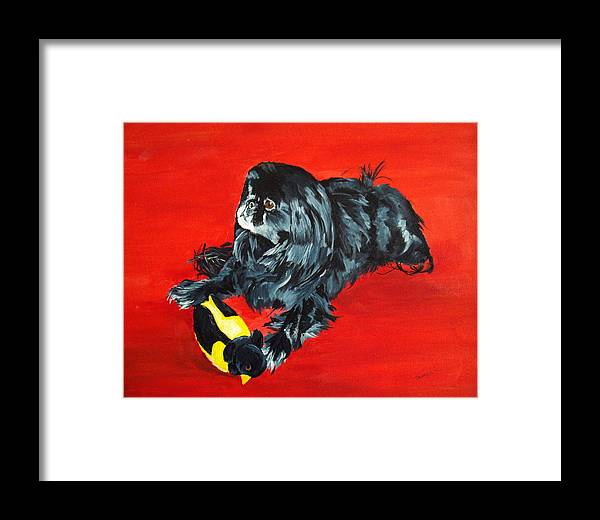 Pekingese Framed Print featuring the painting Delilah by Ellen Canfield