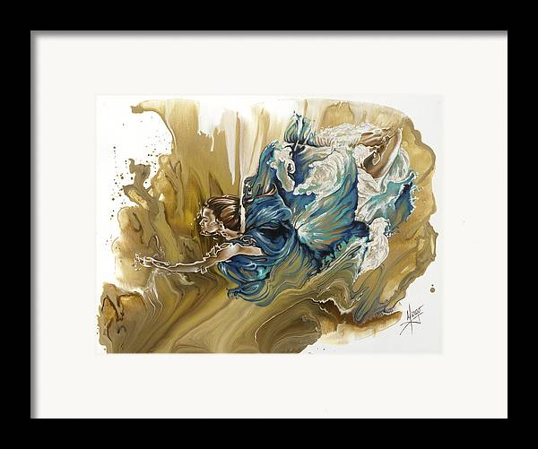 Deliver Framed Print featuring the painting Deliver by Karina Llergo