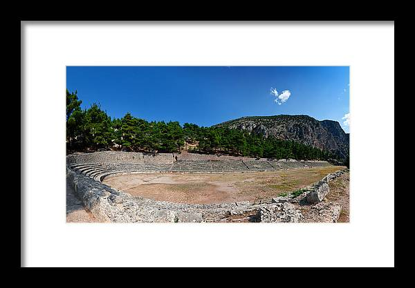 Ancient Framed Print featuring the photograph Delphi - Greece by Constantinos Iliopoulos