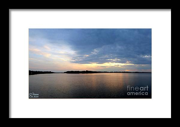Lake Framed Print featuring the photograph Delta Lake Panoramic View by Rennae Christman