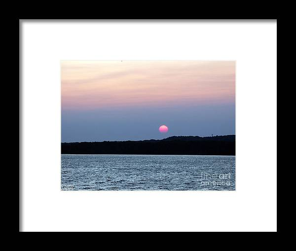 Sun Framed Print featuring the photograph Delta Lake Sunset by Rennae Christman