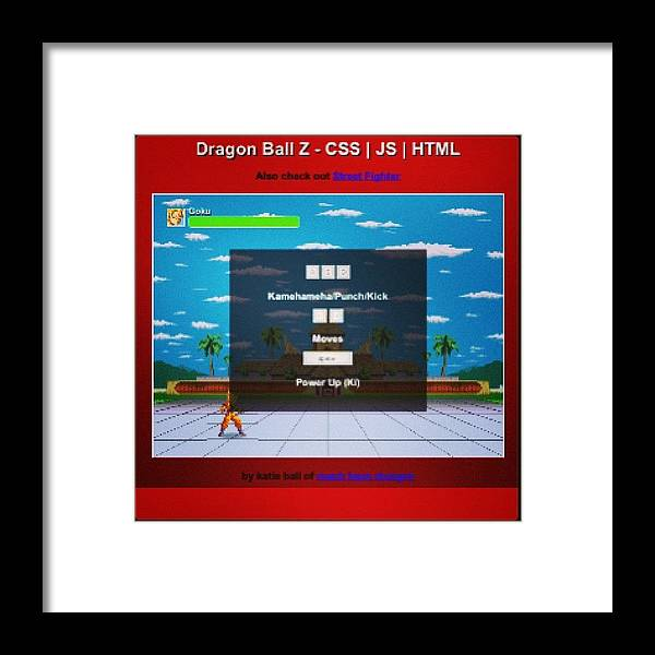 Code Framed Print featuring the photograph #demo At #http://bit.ly/dbz-css #dbz by Katie Ball