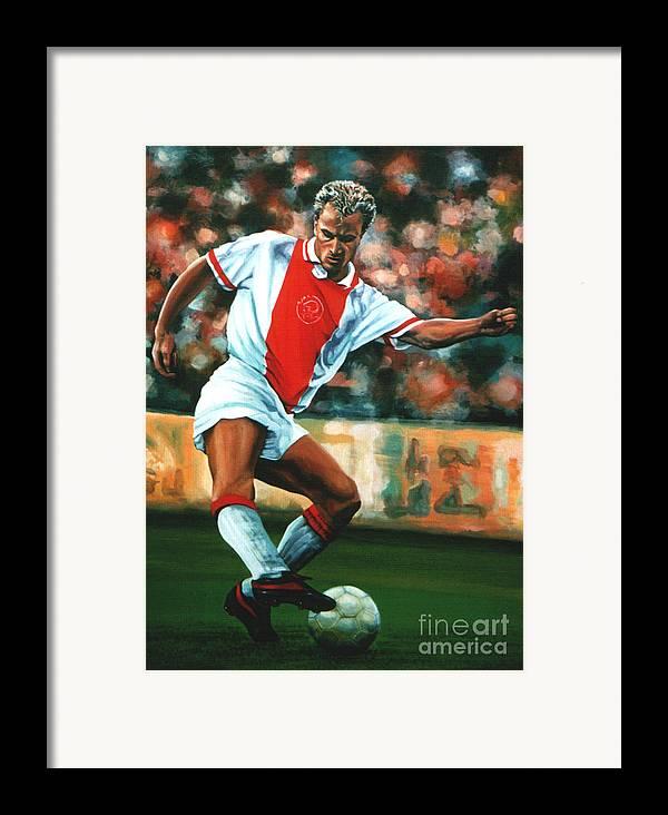 Dennis Bergkamp Framed Print featuring the painting Dennis Bergkamp 2 by Paul Meijering