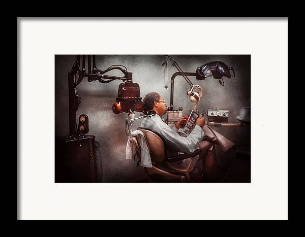 Doctor Framed Print featuring the photograph Dentist - Waiting For The Dentist by Mike Savad