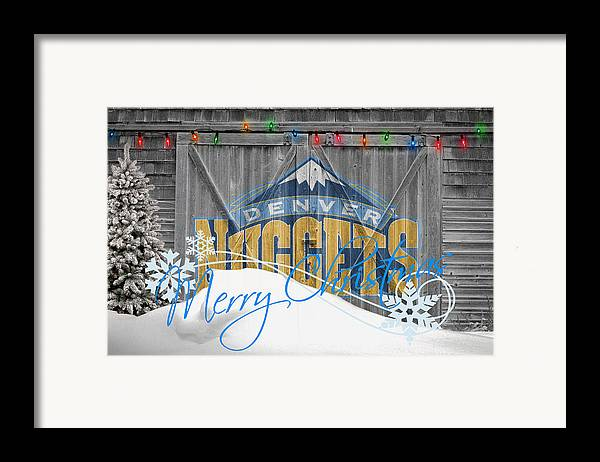 Nuggets Framed Print featuring the photograph Denver Nuggets by Joe Hamilton