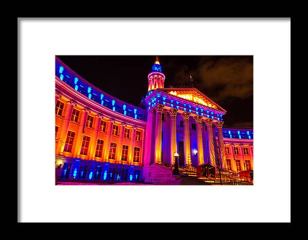 Bronco Colors Framed Print featuring the photograph Denver Orange And Blue Pride by Teri Virbickis