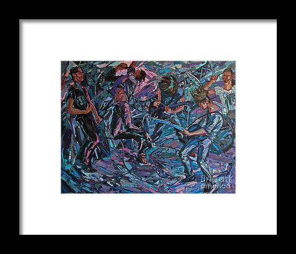 Depth Framed Print featuring the painting Depth by Sergey Sovkov
