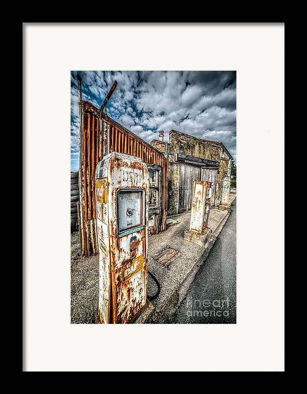 Derelict Framed Print featuring the photograph Derelict Gas Station by Adrian Evans