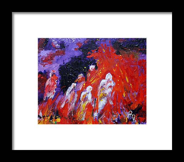 Hell Framed Print featuring the painting Descent by Michael Greeley