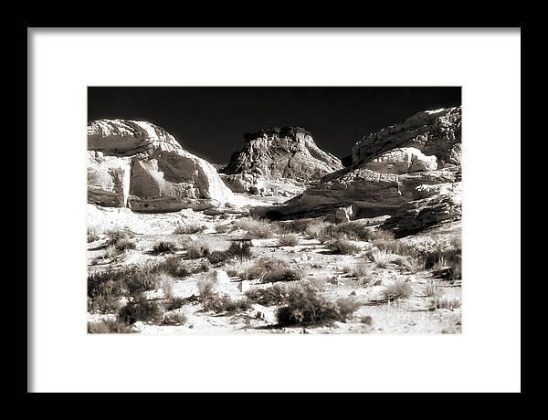 Desert Altar Framed Print featuring the photograph Desert Altar by John Rizzuto