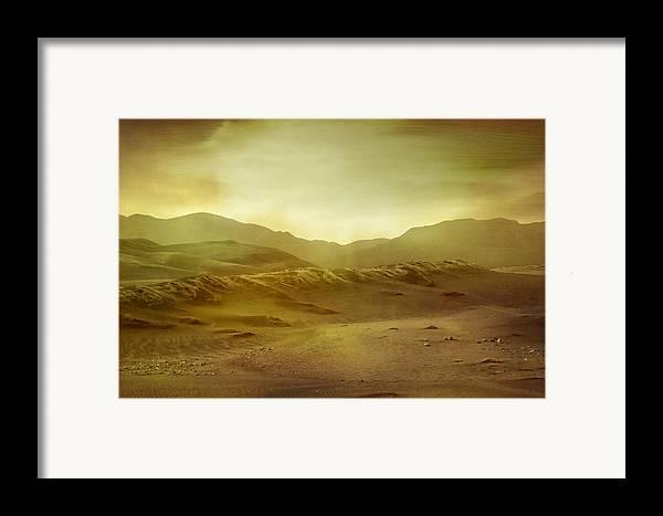 Brett Framed Print featuring the digital art Desert by Brett Pfister