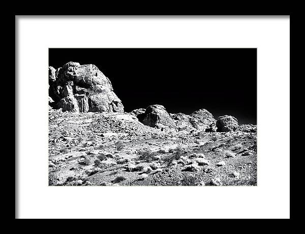 Desert Formation Framed Print featuring the photograph Desert Formation by John Rizzuto