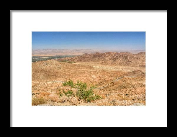 California Framed Print featuring the photograph Desert Highway by Deborah Smolinske