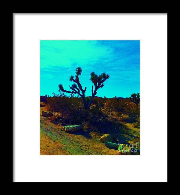 Joshua Tree Framed Print featuring the photograph Desert Life by Tara Yarte
