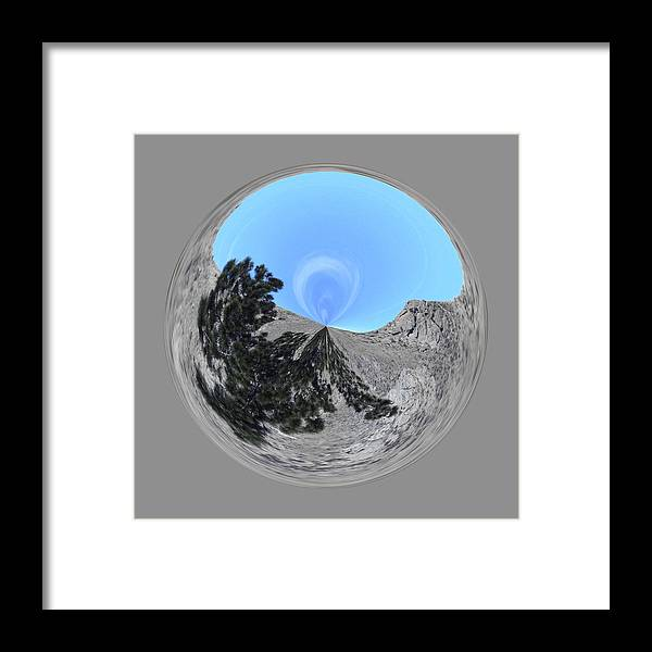 Orb Framed Print featuring the photograph Desert Orb 2 by Brent Dolliver