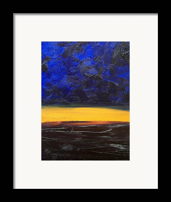 Landscape Framed Print featuring the painting Desert Plains by Sergey Bezhinets