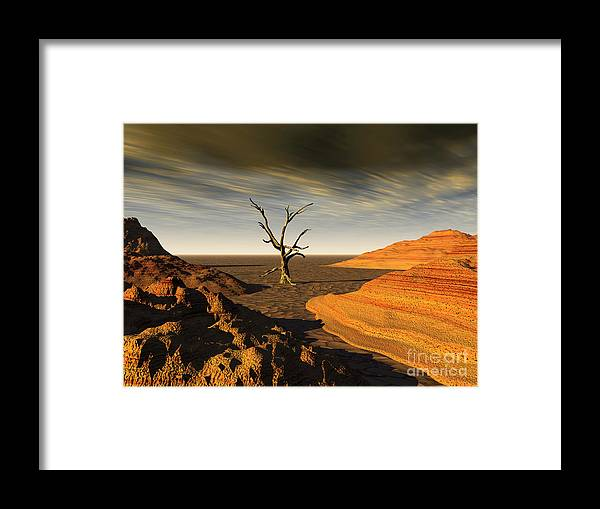 Cove Framed Print featuring the photograph Desert Scene 2 by Alan Russo