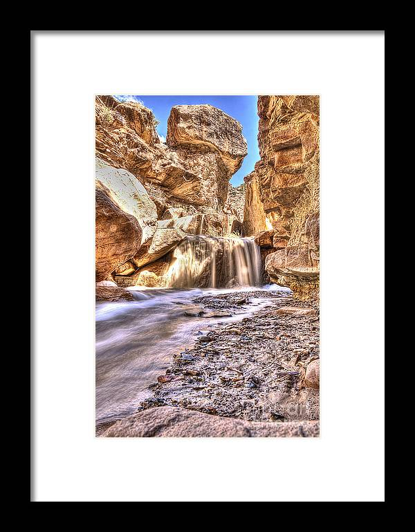 Hdr Framed Print featuring the photograph Desert Spring Runoff. by Earl Nelson