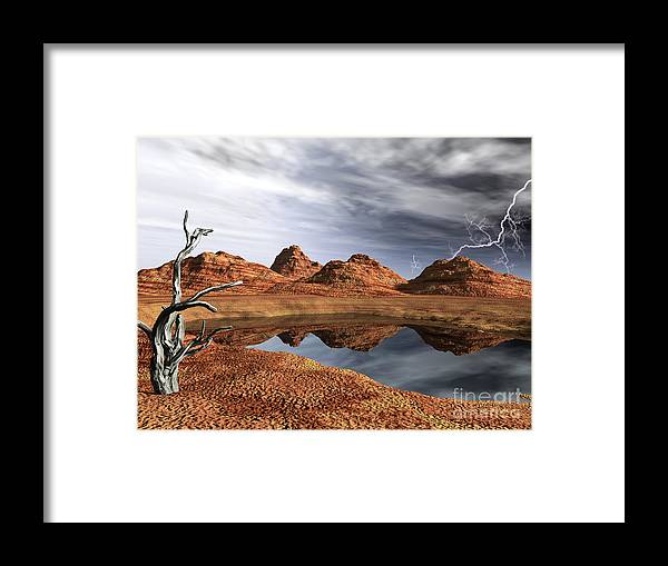 Cove Framed Print featuring the photograph Desert Storm by Alan Russo