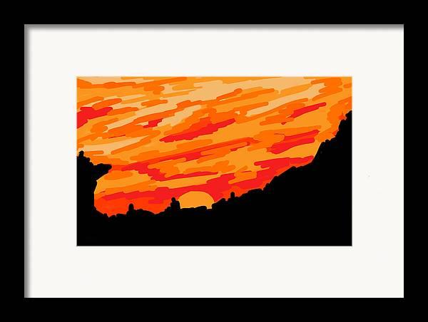 Desert Framed Print featuring the digital art Desert Sunset by Jera Sky