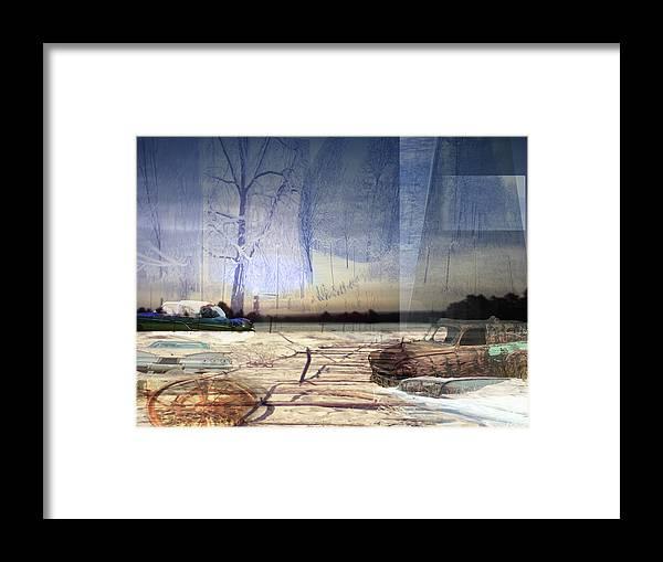 Desert Framed Print featuring the digital art Desert Tracks by Cathy Anderson
