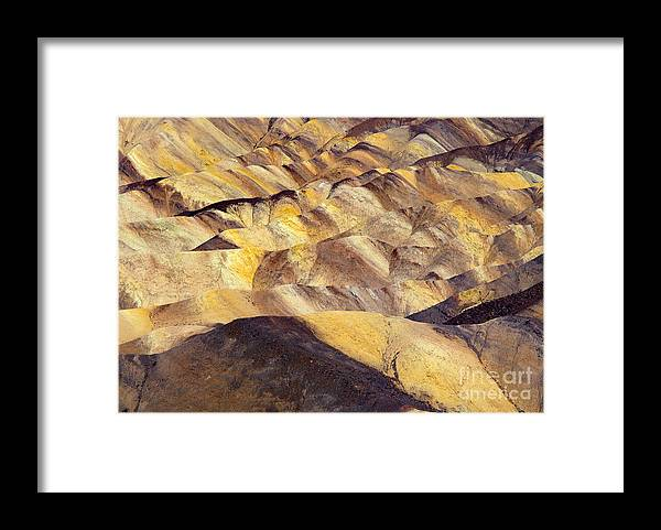 Zabriskie Point Framed Print featuring the photograph Desert Undulations by Mike Dawson