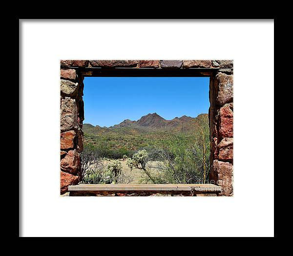 Tucson Framed Print featuring the photograph Desert Window by Jemmy Archer