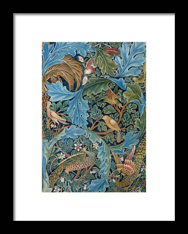 William Morris Framed Print featuring the painting Design For Tapestry by William Morris