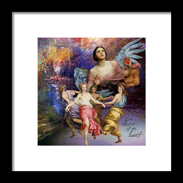 Angels Framed Print featuring the painting Desire of My Heart by Laura Botsford