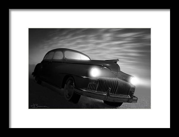 Auto Framed Print featuring the photograph Desotto's Ghost by Jim Bremer