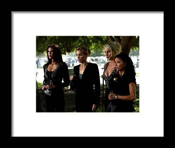 Art Prints Framed Print featuring the digital art Desperate Housewives TV serie - 1 by Gabriel T Toro