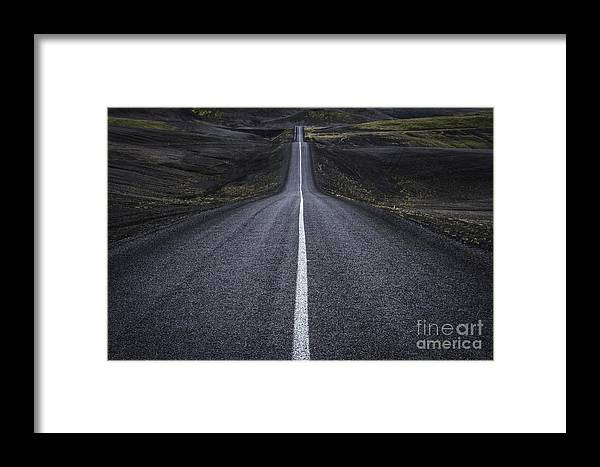Landmannalaugar Framed Print featuring the photograph Destination Unknown by Evelina Kremsdorf