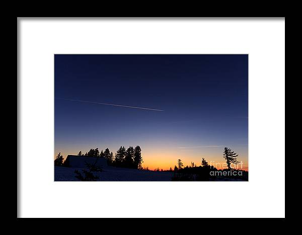Snow Framed Print featuring the photograph Destination Unknown by Beve Brown-Clark Photography
