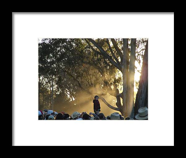 Symbolism Framed Print featuring the photograph Destined To Rise Above The Crowd by Scott Lenhart