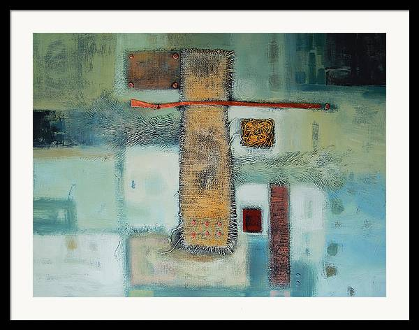 Framed Print featuring the painting Destiny by Farhan Abouassali