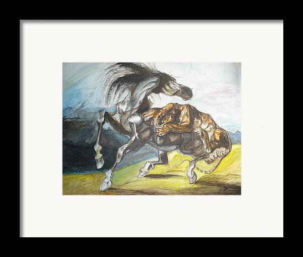 The Horse Framed Print featuring the painting Destiny by Prasenjit Dhar