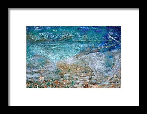 Detail Framed Print featuring the painting Detail 7 From Rhapsody On The Sea by Regina Valluzzi
