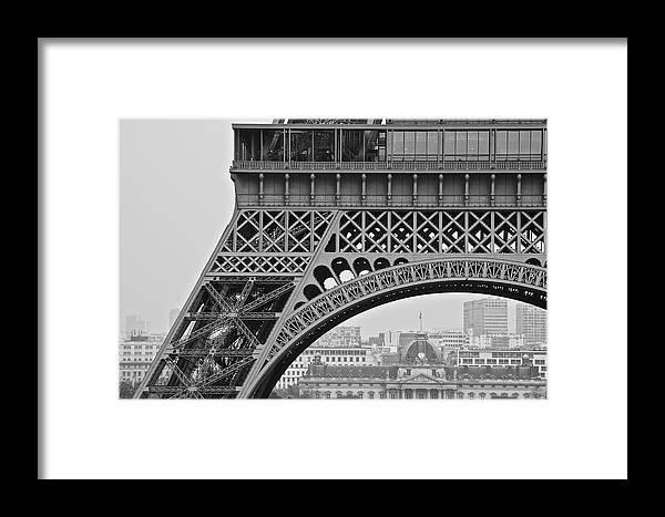 Paris Framed Print featuring the photograph Detail Eiffel Tower by Galexa Ch