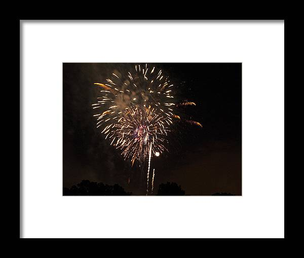Cities Framed Print featuring the photograph Detroit Area Fireworks -7 by Paul Cannon