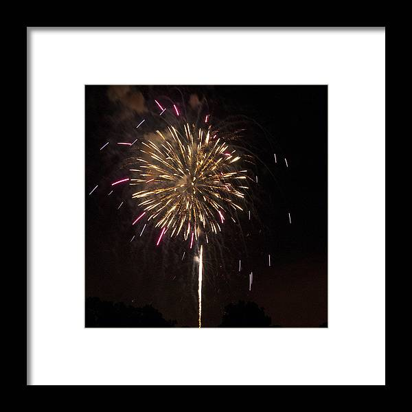 Cities Framed Print featuring the photograph Detroit Area Fireworks -8 by Paul Cannon