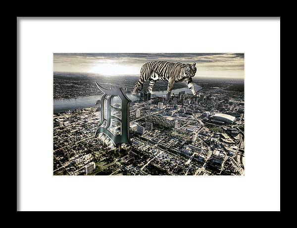 Giant Tiger Framed Print featuring the photograph Detroit by Nicholas Grunas